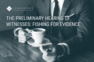 The preliminary hearing of witnesses - fishing for evidence