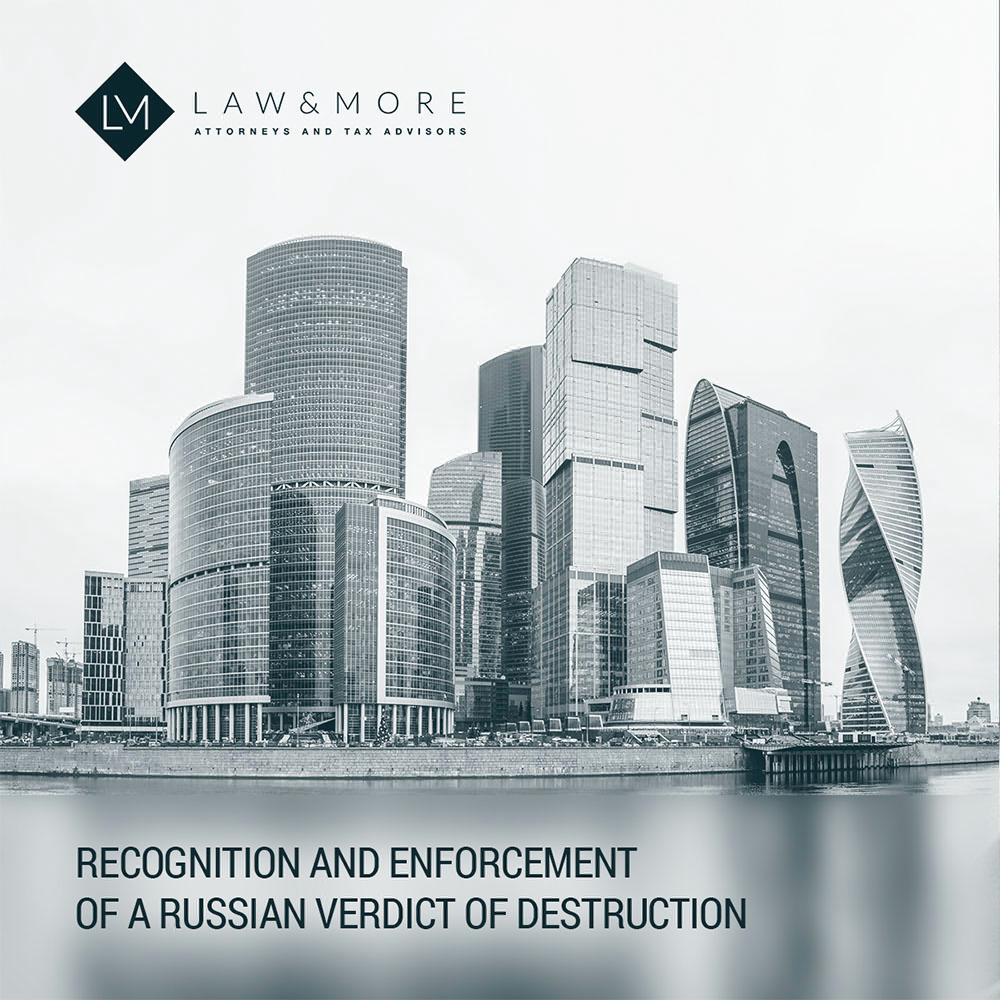 Recognition and enforcement of a Russian verdict of destruction 1x1 image